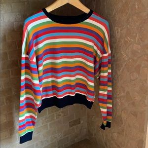 NWOT! - Multi-coloured striped top